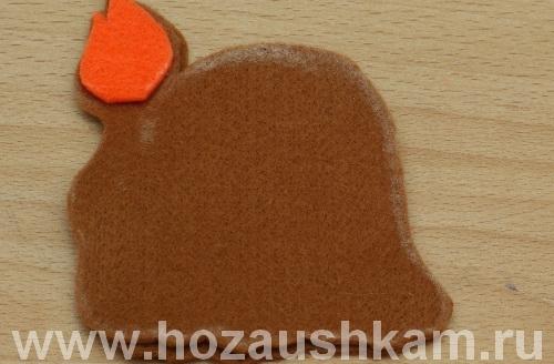 Новогодняя игрушка из фетра – львенок фото 11