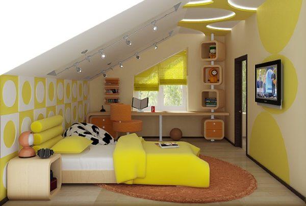 Обустройство комнаты на мансардном этаже - 7