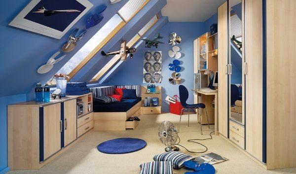 Обустройство комнаты на мансардном этаже - 5