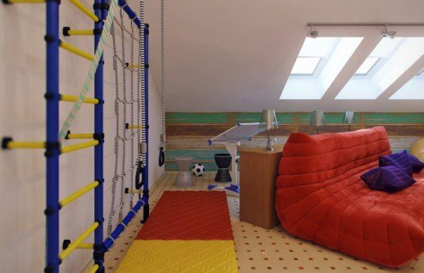 Обустройство комнаты на мансардном этаже - 6