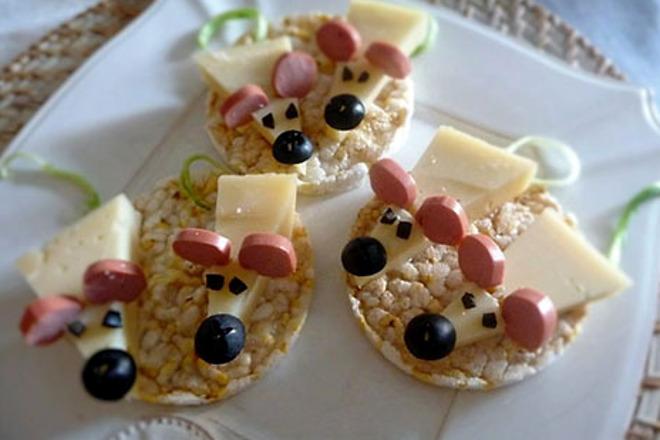 Закуска веселые мышата