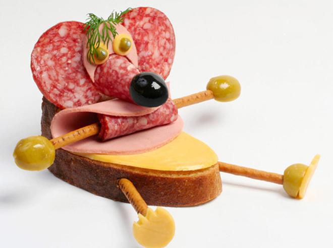Бутерброд-мышь